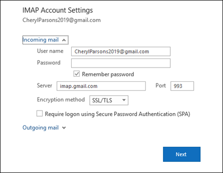 Select Server Settings to change your user name, password, and server settings.