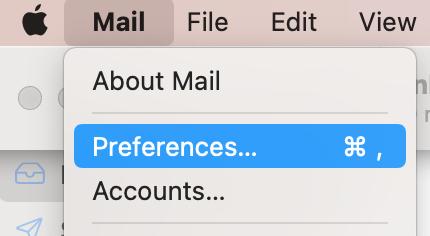 Mac Mail Preferences